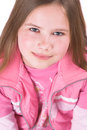 Pretty Ten Year Old Blond Girl Looking Up Stock Photography - 760022