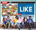 Like Share Social Media News Feed Concept Stock Image - 76005401
