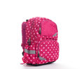Pink School Backpack With White Dots Isolated On White Stock Images - 76015414