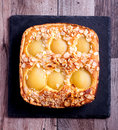 Poached Pear And Almond Tart Royalty Free Stock Images - 76016329