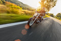 Motorcycle Driver Riding On Motorway Royalty Free Stock Photos - 76023858