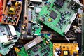 Old Electronics Mainboards In Private Collection Stock Photo - 76036740