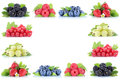 Berries Strawberries Blueberries Red Currant Grapes Berry Fruits Stock Photos - 76043233