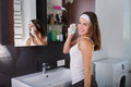 Woman In The Bathroom Stock Photo - 76060370