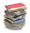 Messy Stack Of Files Stock Photography - 76065872