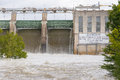Tom Miller Dam Holding Releasing Flood Waters Stock Images - 76112114