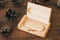 Wooden Box With Usb Stick On Dark  Background Royalty Free Stock Image - 76115586