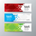 Banners Template With Abstract Square Pattern Background Royalty Free Stock Image - 76117376