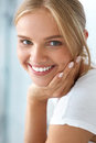 Beauty Portrait Of Woman With Beautiful Smile Fresh Face Smiling Royalty Free Stock Photography - 76138477