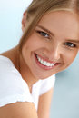 Beautiful Woman With Beauty Face, Healthy White Teeth Smiling Stock Image - 76138831