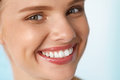 Beautiful Smile. Smiling Woman With White Teeth Beauty Portrait. Stock Photography - 76139402