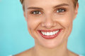 Beautiful Smile. Smiling Woman With White Teeth Beauty Portrait. Royalty Free Stock Images - 76139469