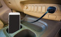 Charger Plug Phone On Car. Stock Images - 76140634