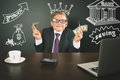 Conceptual Image King Of Banks. Successful Banker Holding Money Stock Photo - 76155090
