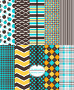 Preppy Scrapbook Paper, Seamless Abstract Patterns Royalty Free Stock Photos - 76155828