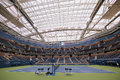 Newly Improved Arthur Ashe Stadium With Finished Retractable Roof At The Billie Jean King National Tennis Center Ready For US Open Stock Photo - 76165700