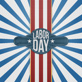 Labor Day Badge On Striped Backround Royalty Free Stock Photography - 76168127