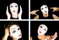 Portret Of The Mime Stock Images - 7623064
