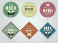 Set Of Colored Round And Square Ready Beer Coasters And Mats Wit Stock Photo - 76228910