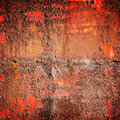 Old Red Rusted Iron Wall, Square Background Texture Royalty Free Stock Photos - 76251908