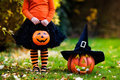 Little Girl Having Fun On Halloween Trick Or Treat Stock Images - 76256744