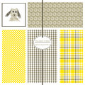 Seamless Patterns In Grey And Yellow. Stock Images - 76258664
