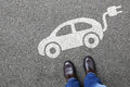 Man People Electric Car Vehicle Street Road Traffic Eco Friendly Stock Photography - 76258962