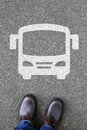 Man People Bus Coach Street Road Traffic City Mobility Royalty Free Stock Photos - 76259318