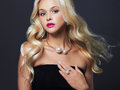 Blonde Girl With Jewelry Stock Photography - 76268422