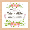 Save The Date, Wedding Invitation Card With Flower Templates. Flower Floral Background. Royalty Free Stock Photo - 76271525