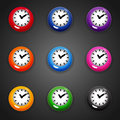 Colorful Cartoon Style Clock Timer For Game Royalty Free Stock Photo - 76273705