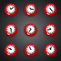 Colorful Cartoon Style Clock Timer For Game With Animated Hands Stock Images - 76273954