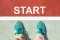 Concept Of Starting Point Stock Photo - 76277350