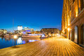 Long Exposure Of Hendersons Wharf In Baltimore, Maryland Royalty Free Stock Photo - 76280905