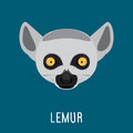 Lemur Abstract Portrait. Royalty Free Stock Photo - 76294535