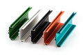 Samples Of Colorful Aluminum Profiles Royalty Free Stock Photos - 76306578