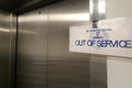 Out Of Service Elevator Lift Stock Photo - 76308450