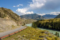Mountain Road River Bend Stock Photography - 76317752