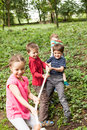 Tug-of-war In Park Stock Photo - 76321090