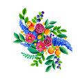 Folk Flowers Royalty Free Stock Image - 76327316