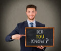 Did You Know On Chalkboard Stock Photo - 76339110