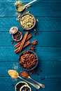 Culinary Background With Various Spices Stock Photos - 76357363