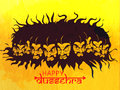 Angry Ravana For Happy Dussehra Celebration. Royalty Free Stock Image - 76361586