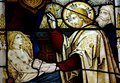 Jesus Christ Healing A Sick Girl In Stained Glass Stock Image - 76374421