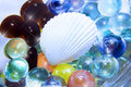 Sea Shell And Glass Beads Royalty Free Stock Photos - 7640368