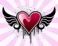 Valentine Heart With Wings Royalty Free Stock Photography - 7649207