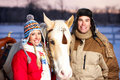 Couple With Horse Stock Images - 7649814