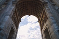 Classical Arch And Fast Clouds Royalty Free Stock Photography - 76406057