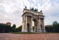 Classical Arch And People In A Square Stock Image - 76406061