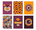 Halloween Vertical Banners Typographic Template Royalty Free Stock Photography - 76411777
